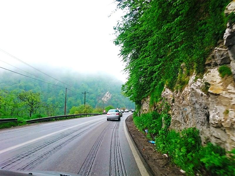 مسیر رسیدن به آبشار دریوک